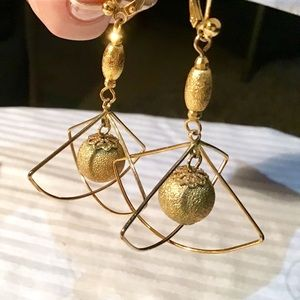 "💥Unique Gold Vermeil ""Planet"" Earrings"